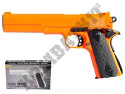 HA123 BB Gun Colt 1911 Replica Spring Airsoft Pistol 2 Tone Black Orange